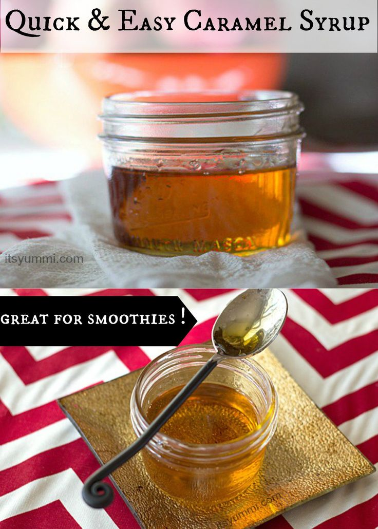 This easy caramel syrup recipe is perfect for making lattes or drizzling over pancakes!
