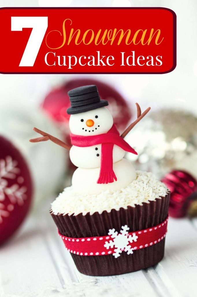 Here are 7 adorable snowman cupcake ideas. Delicious Inspiration & examples for all your cute Christmas cupcake creations!