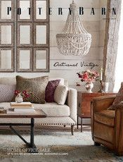 Pottery Barn - Fall 2017 D1 - Elliot Leather Armchair, Polyester Wrapped Cushions, Leather Antique B