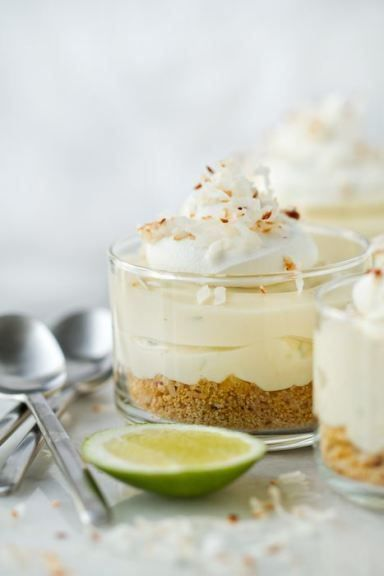 Coconut graham cracker crust topped with Key Lime Cheesecake filling and a swirl of whipped cream creates a simple and delicious dessert for every summer occasion.