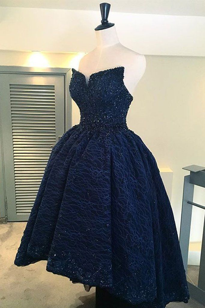 Dark Blue Christmas Ball Dresses