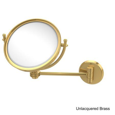 Allied Brass 8-inch Wall-mounted Makeup Mirror with 3x Magnification, Clear