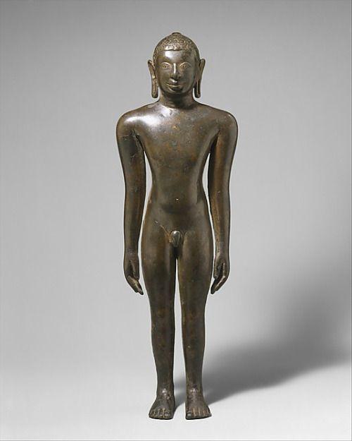 Tirthankara Standing in Kayotsarga Meditation Posture Chalukya dynasty, 9th c.