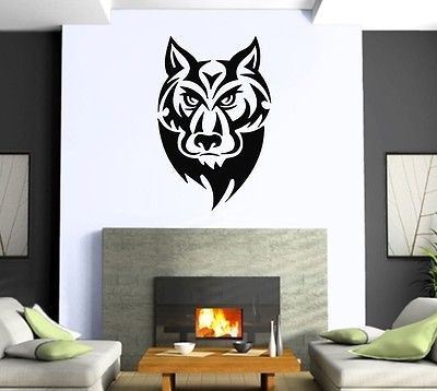 Wall Sticker Vinyl Decal Wolf Tatoo Animal Predator Power z507