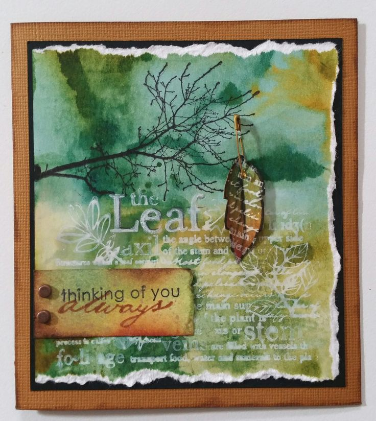 The Leaf 4809F, Bare Branch 4806E, Single Leaf 2468C by Stamp-It Australia; Thinking of You by Stampin' Up; Always 1970C by Penny Black. Card by Susan of Art Attic Studio