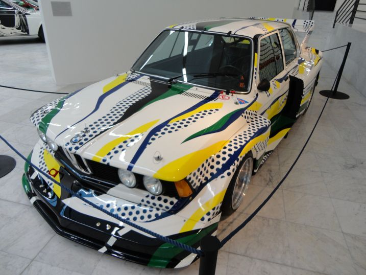 BMW Art Cars Exhibition. The BMW 320 (1977), by Roy Lichtenstein http://northernfjords.com/2012/10/01/the-stavanger-art-museum-cars-and-paintings/