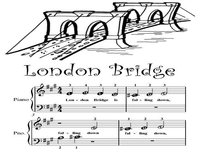 Piano Sheet Music for Beginners | London Bridge Beginner Tots Piano Sheet Music PDF For Sale