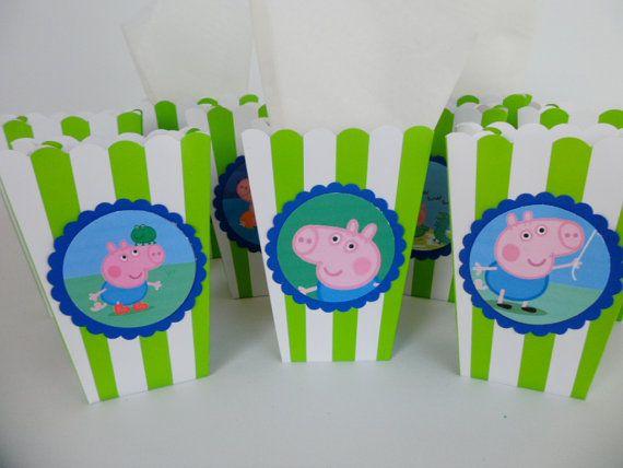 Peppa Pig George Pig Popcorn Box/ Birthday Party / by FluidYard