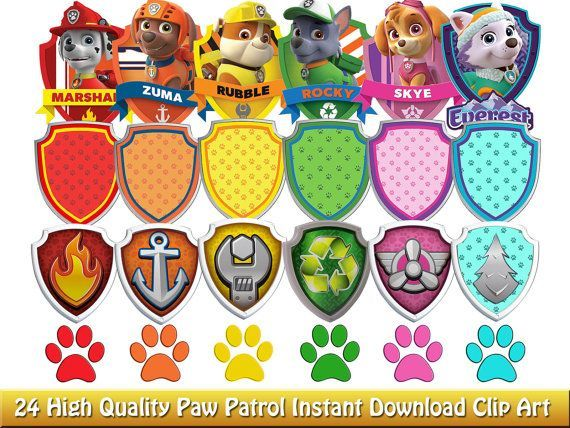 Paw Patrol Clipart For Download Paw Patrol Badge Paw Patrol Clipart Paw Patrol Birthday