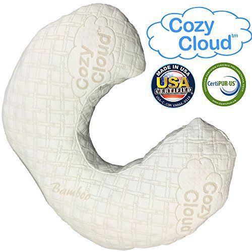 The Best Memory Foam Nursing Pillow On Amazon! Don't feed your baby on a toxic pillow made in China!  The Cozy Cloud nursing pillow is Eco-Friendly and made completely in the USA – WITHOUT the use of mercury, formaldahyde, or other toxic chemicals. Discount nursing pillows are made in...