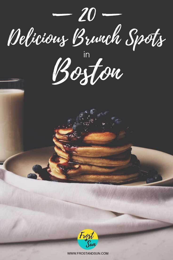 Mmm..brunch! Can't decide where to brunch it in Boston? I've got 20 recommendations on where to nom on eggs, pancakes, bloody marys + more. Pin Me if you're planning a trip to the historic city of Boston!