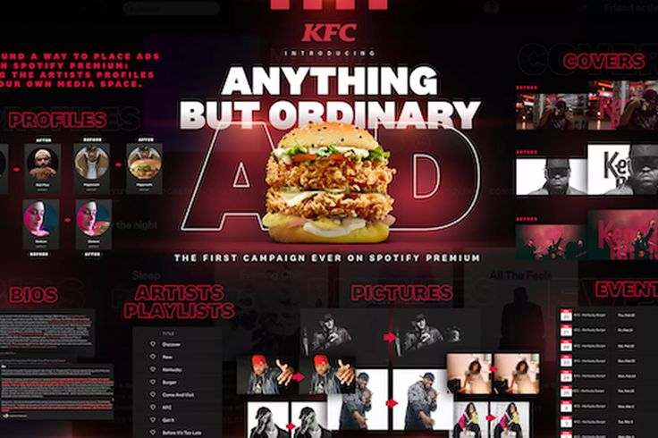 KFC sneaks ads onto Spotify Premium by taking over artist