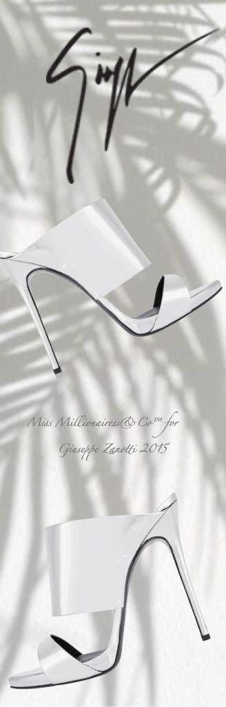 Giuseppe Zanotti 2015 Mirrored Leather Mules - Miss Millionairess's Boutique™
