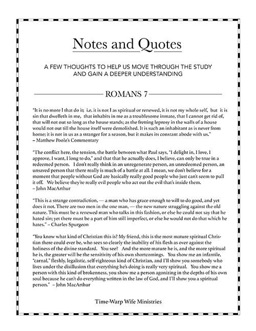 Romans bible study outlines