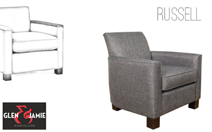 Russell chair from Glen and Jamie's designer collection #GlenandJamie #furniture #design #chairs