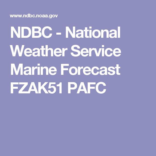 NDBC - National Weather Service Marine Forecast FZAK51 PAFC