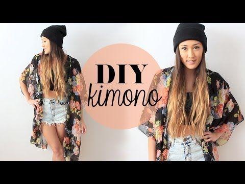 ▶ DIY: Easy Kimono | LaurDIY - YouTube