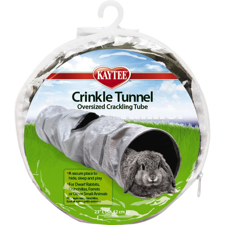 "Kaytee+Crinkle+Tunnel+-+23""+L+X+6""+diameter,+Provides+exciting+crinkle+sounding+fun+play+and+exploration+for+ferrets,+guinea+pigs,+chinchillas,+dwarf+bunnies,+pet+rats+and+other+small+furry+friends.+Features+an+extra+hide+and+seek+hole+for+added+entertainment. - http://www.petco.com/shop/en/petcostore/product/kaytee-crinkle-tunnel"
