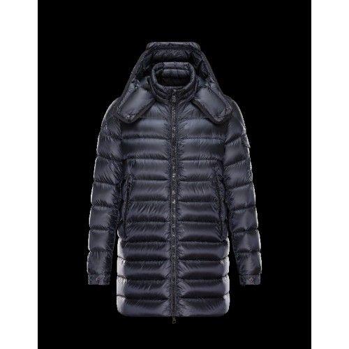 Moncler DUSTIN Detachable Hood Turtleneck Dark Blau Winterjacken Techno Fabric/Polyamide Herren 41456791NS