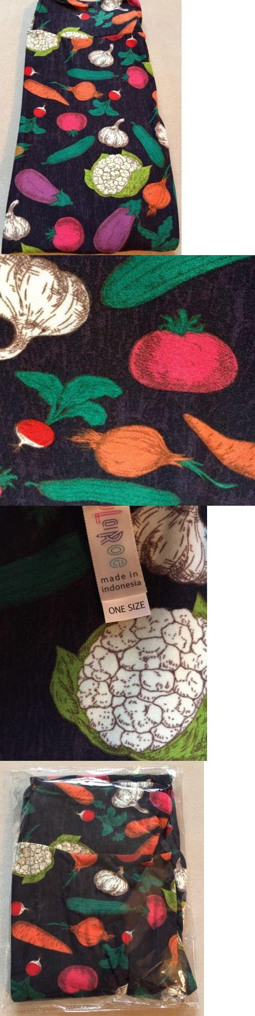 Women Leggings: Nwt Os Unicorn Vegetables Veggies Garden Lularoe Leggings Farmer S Market Black -> BUY IT NOW ONLY: $59.99 on eBay!