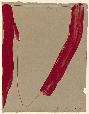 Helen Frankenthaler ~ Slice of the stone itself, 1969 (colour lithograph, handmade paper)