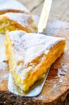 Torta di mele con pasta sfoglia e crema cioccolato bianco vickyart arte in cucina