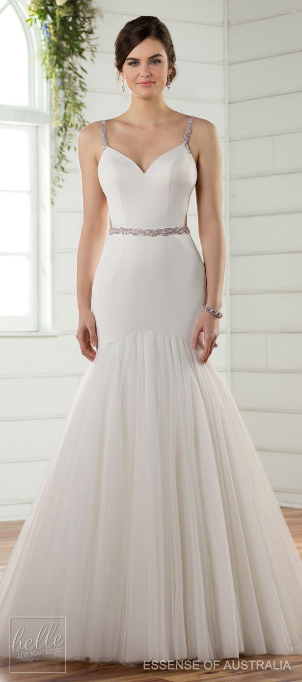 Essense Of Australia Fall 2017 Wedding Dress Collection Simple Elegant Wedding Dress Fitted Wedding Dress Winter Wedding Dress [ 1386 x 615 Pixel ]