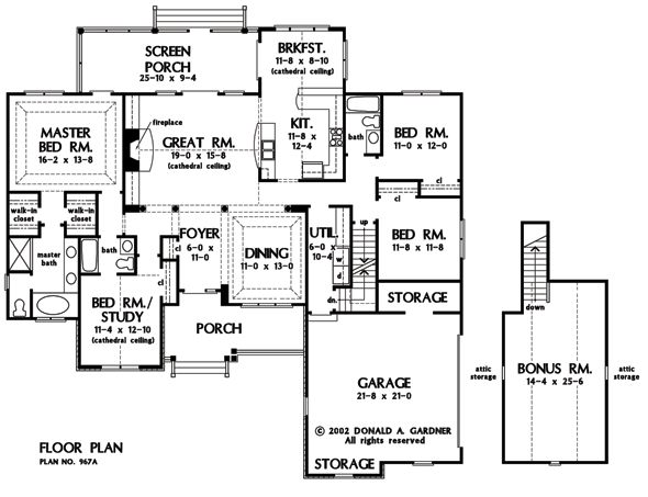 Basement optional of the satchwell house plan number for Bungalow house plans with basement and garage