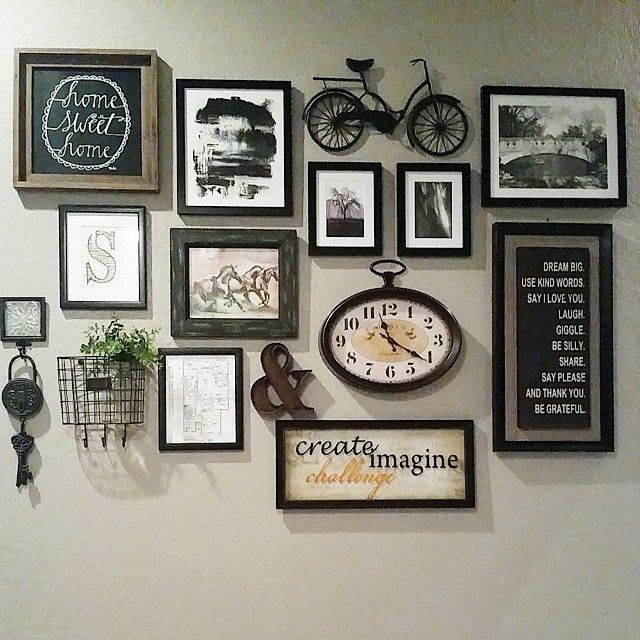 Photo Wall Ideas With Different Frames : Best photo wall decor ideas on living room