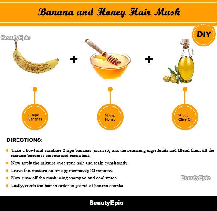 Top 8 Homemade Honey Hair Masks Recipes For Healthy Hair Honey Hair Mask Banana Hair Mask Hair Mask
