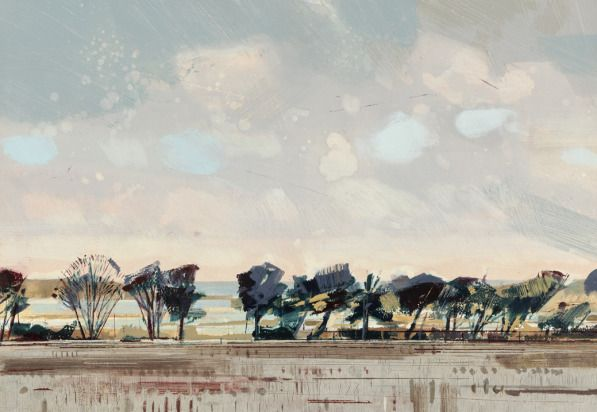 Calm in Norfolk - another Jane Human painting