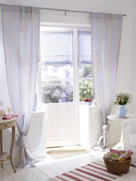 ber ideen zu vorh nge landhausstil auf pinterest. Black Bedroom Furniture Sets. Home Design Ideas