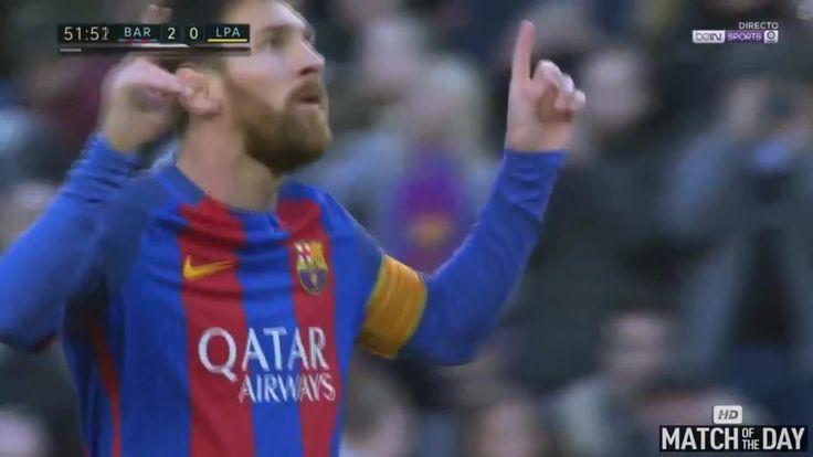 Lionel Messi Goal  Barcelona vs Las Palmas 14- 01- 2017  HD