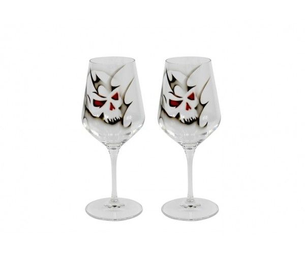 Skull Wine glass 2 pck 35 cl, from Nybro-Glasbruk, by Anders Lindblom