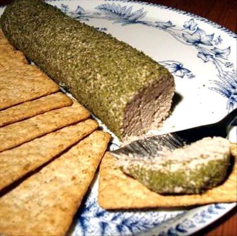 chicken liver pate.....amazing!  I used half the butter recommended and it was rich and creamy
