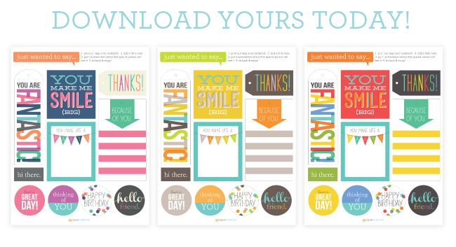 Three pages of printable tags for a ton of different occasions. A very useful set of free printables!