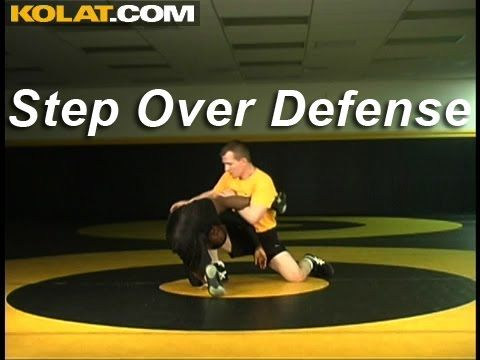 Step Over Defense for Single Wrestling Techniques Moves Instruction