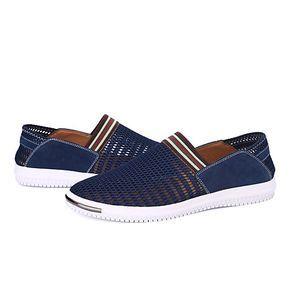 Hombre-Tacón Plano-Confort Suelas con luz-Zapatos de taco bajo y Slip-Ons-Exterior Oficina y Trabajo Informal-Tul- 2017 - $23.99