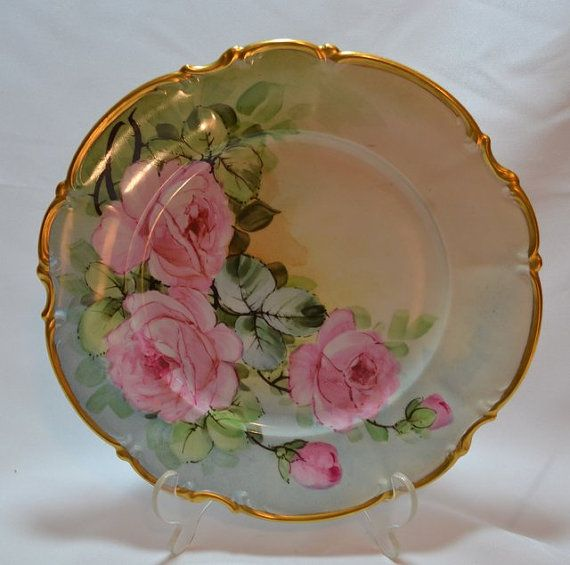Hand Painted Bavaria Covered Bowl