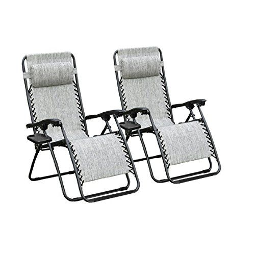 Odaof Recliner Lounge Chair with Cup Holder 2Pack Gray