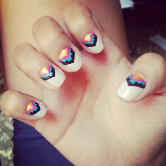 Hippie chic nail style!