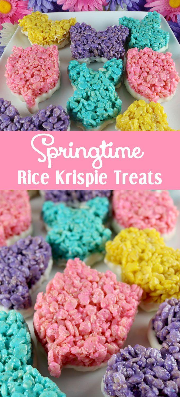 Baby shower rice krispy treat ideas - Springtime Rice Krispie Treats