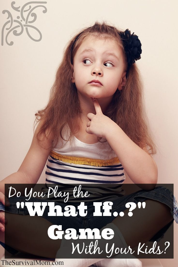Do you play the 'What if …' game with your kids?.. it's not about scaring them, or not letting them be kids. It's about making sure they are prepared for that one day that you hope never does.