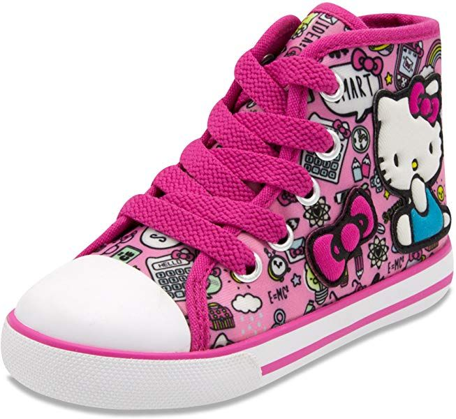 2499bfef85f02 Amazon.com | Hello Kitty LIL Avery Lace Up Fashion Sneaker With ...