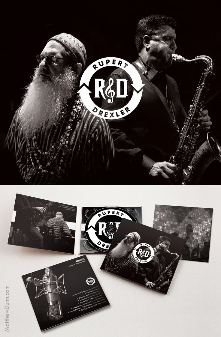 "My package design for jazz album ""R&D"" by Jeff Rupert and Richard Drexler."