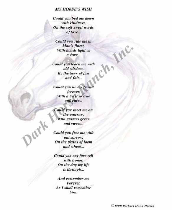 poems | DarkHorse Ranch - Horse Poems / Poetry