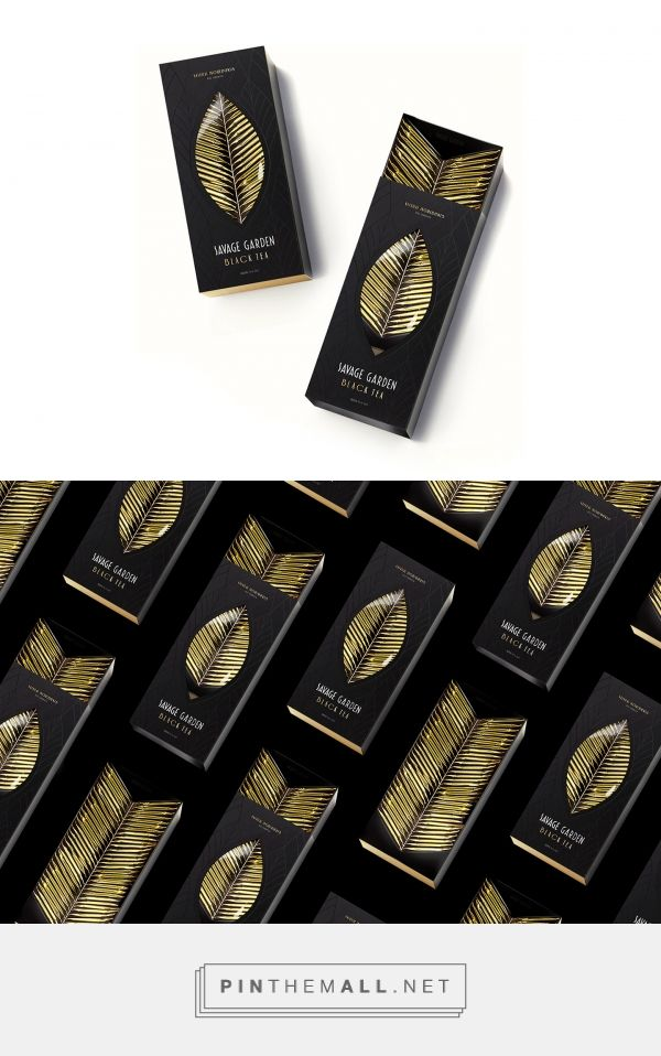Savage Garden tea packaging design concept by Nikita Konkin - http://www.packagingoftheworld.com/2018/02/savage-garden.html