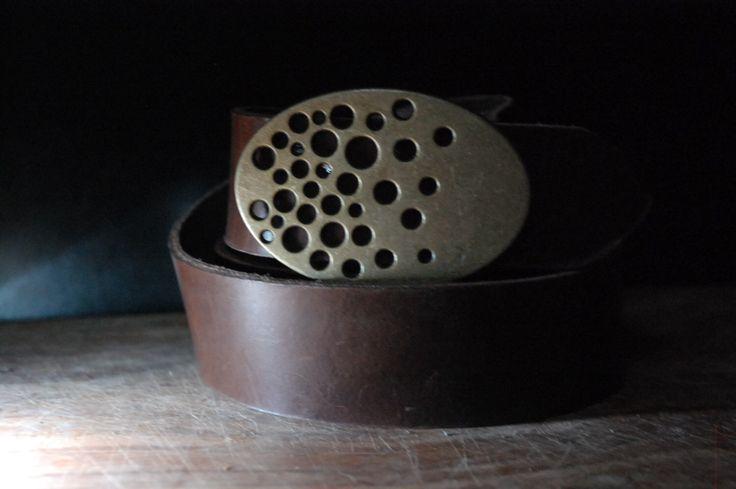 Women Hole design Brass buckle Leather Belt -Real leather- Old Brass Belt Buckle - Size by CUERO925LEATHER on Etsy https://www.etsy.com/listing/208360999/women-hole-design-brass-buckle-leather