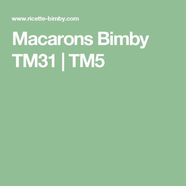 Macarons Bimby TM31 | TM5