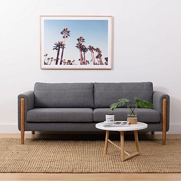 Vick 3 Seater Sofa, Steel by Zanui   Zanui